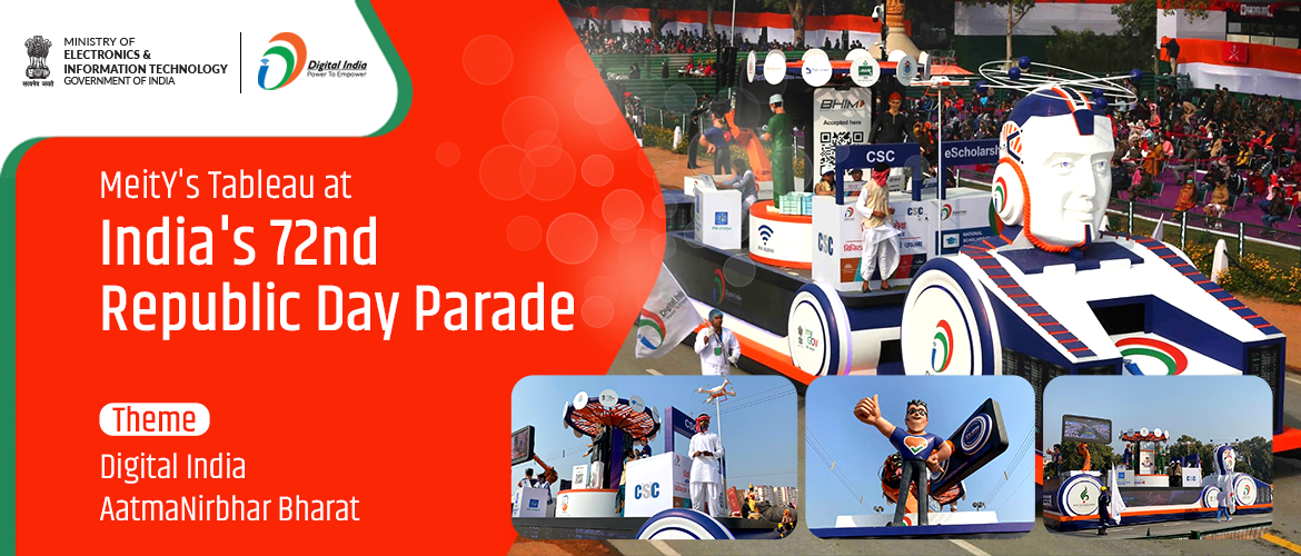 Meity's Tableau at India's Republic Day Parade