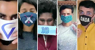 Team Mask Force: Star cricketers come together to promote use of home made masks